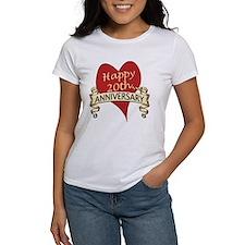 Cool 20th wedding anniversary Tee