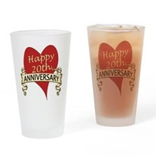 Funny 20th anniversary Drinking Glass