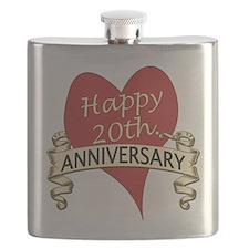 Cute 20th wedding anniversary Flask