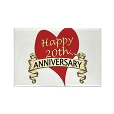Cute Twentieth anniversary Rectangle Magnet