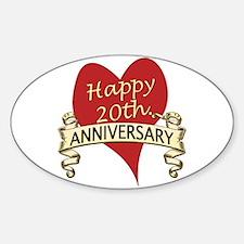 Unique 20th wedding anniversary Decal