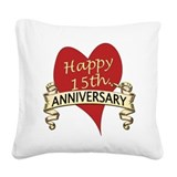 15th wedding anniversary Throw Pillows