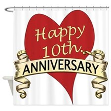 Cute Tenth wedding anniversary Shower Curtain