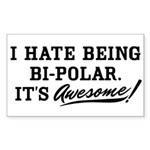 Bi-Polar Awesome Sticker (Rectangle)