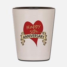 Cute 5th anniversary Shot Glass