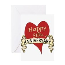 5th. anniversary Greeting Cards