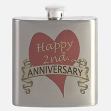 Cute 2nd anniversary Flask
