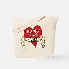 Cute 2nd anniversary Tote Bag