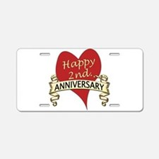 Cool Wedding anniversary Aluminum License Plate