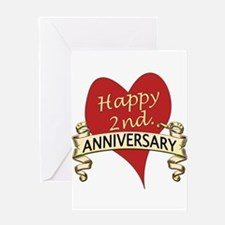 2nd. anniversary Greeting Cards
