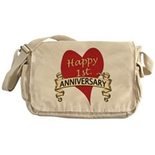 Unique 1st wedding anniversary Messenger Bag