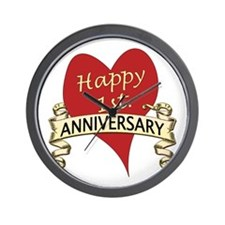 Cute 1st wedding anniversary Wall Clock