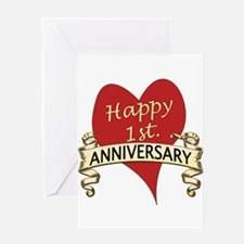 1st. anniversary Greeting Cards