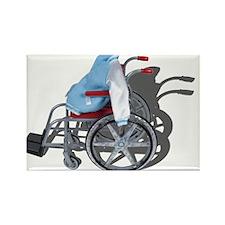 Letterman Jacket Wheelchair Rectangle Magnet
