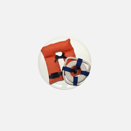 Life Preserver Life Vest Mini Button