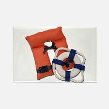 Life Preserver Life Vest Rectangle Magnet
