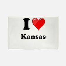 I Heart Love Kansas.png Rectangle Magnet