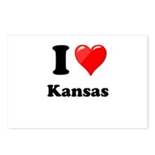 I Heart Love Kansas.png Postcards (Package of 8)
