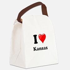 I Heart Love Kansas.png Canvas Lunch Bag