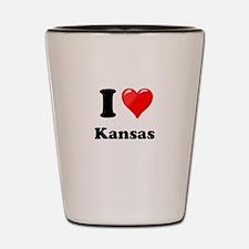 I Heart Love Kansas.png Shot Glass