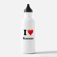 I Heart Love Kansas.png Water Bottle