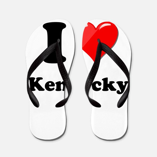 I Heart Love Kentucky.png Flip Flops