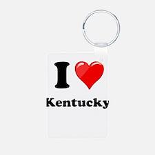 I Heart Love Kentucky.png Keychains