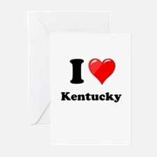 I Heart Love Kentucky.png Greeting Cards (Pk of 10