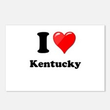 I Heart Love Kentucky.png Postcards (Package of 8)