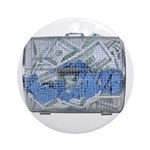 Lottery Tickets Cash Tumble Cage Ornament (Round)