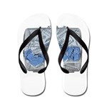 Lottery Tickets Cash Tumble Cage Flip Flops