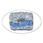 Lottery Tickets Cash Tumble Cage Sticker (Oval 50