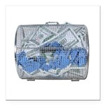 Lottery Tickets Cash Tumble Cage Square Car Magnet