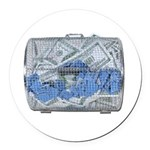 Lottery Tickets Cash Tumble Cage Round Car Magnet