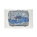 Lottery Tickets Cash Tumble Cage Rectangle Magnet