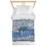Lottery Tickets Cash Tumble Cage Twin Duvet