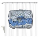 Lottery Tickets Cash Tumble Cage Shower Curtain