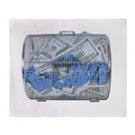 Lottery Tickets Cash Tumble Cage Throw Blanket