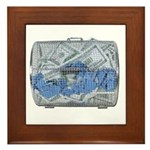 Lottery Tickets Cash Tumble Cage Framed Tile