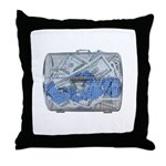 Lottery Tickets Cash Tumble Cage Throw Pillow