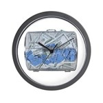 Lottery Tickets Cash Tumble Cage Wall Clock