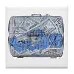 Lottery Tickets Cash Tumble Cage Tile Coaster