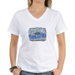 Lottery Tickets Cash Tumble Cage Women's V-Neck T-