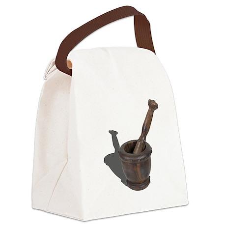 Mortar Pedestal Studs Canvas Lunch Bag