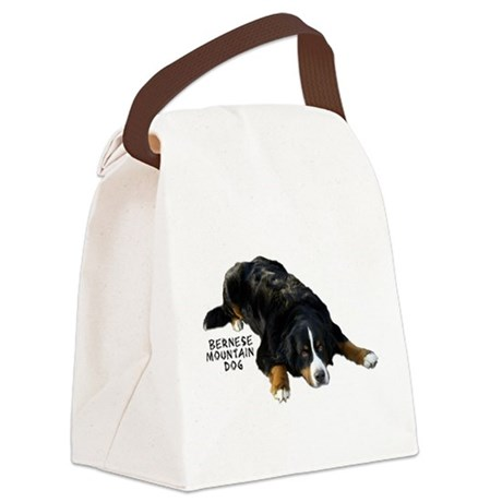 Berner Rug Pose - Canvas Lunch Bag