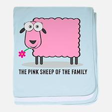 CRAZYFISH pink sheep baby blanket