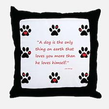 A Dogs Love Throw Pillow