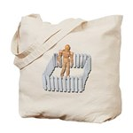 Isolated in White Picket Fence Tote Bag