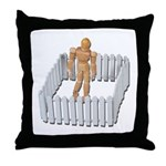Isolated in White Picket Fence Throw Pillow