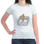 Isolated in White Picket Fence Jr. Ringer T-Shirt